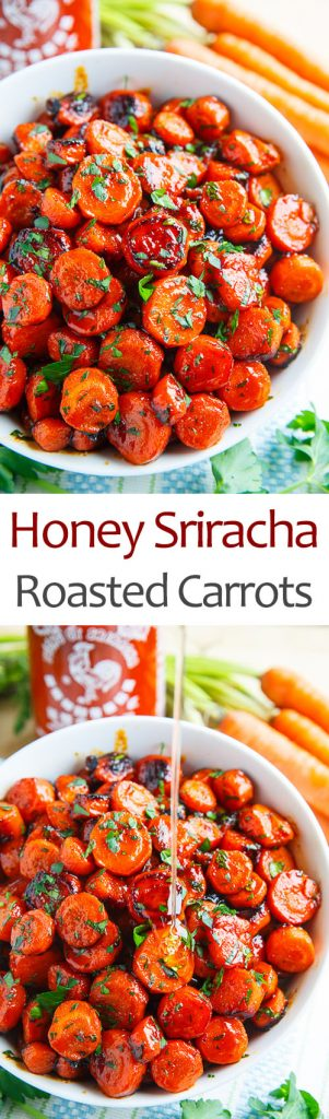 Honey Sriracha Roasted Carrots