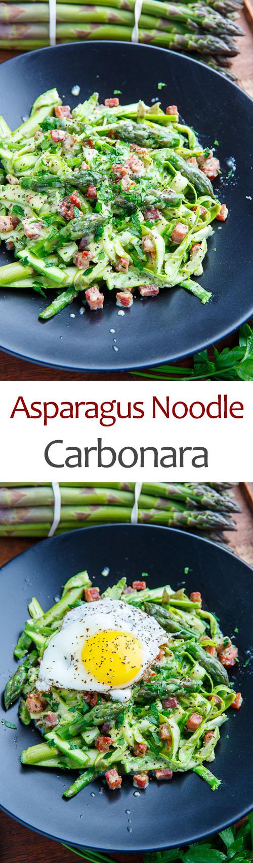 Asparagus Noodle Carbonara