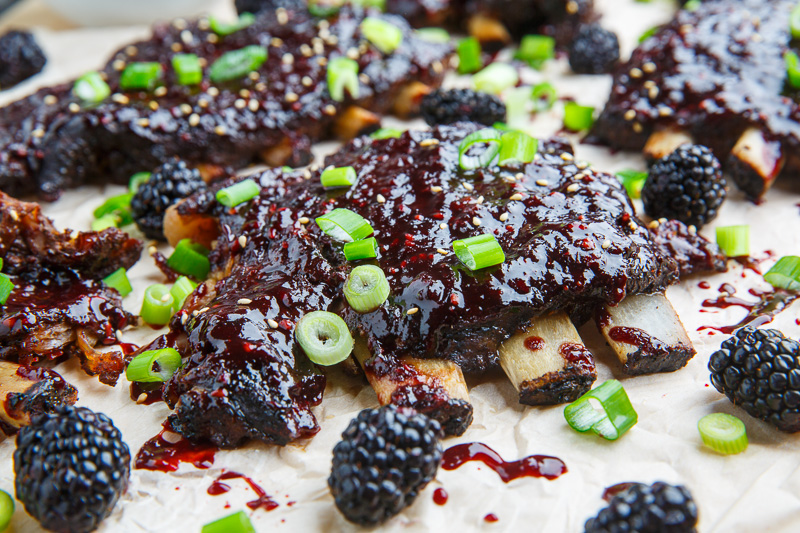 Blackberry Hoisin BBQ Ribs