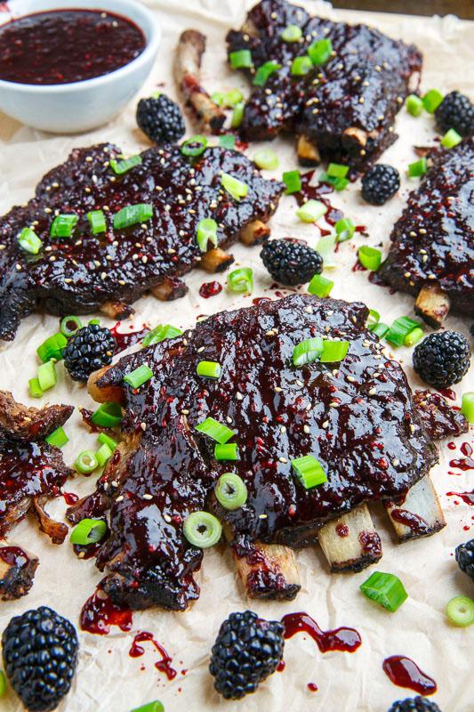 Blackberry Hoisin BBQ Ribs