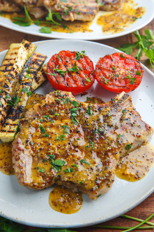 Honey Mustard Grilled Pork Chops - Closet Cooking