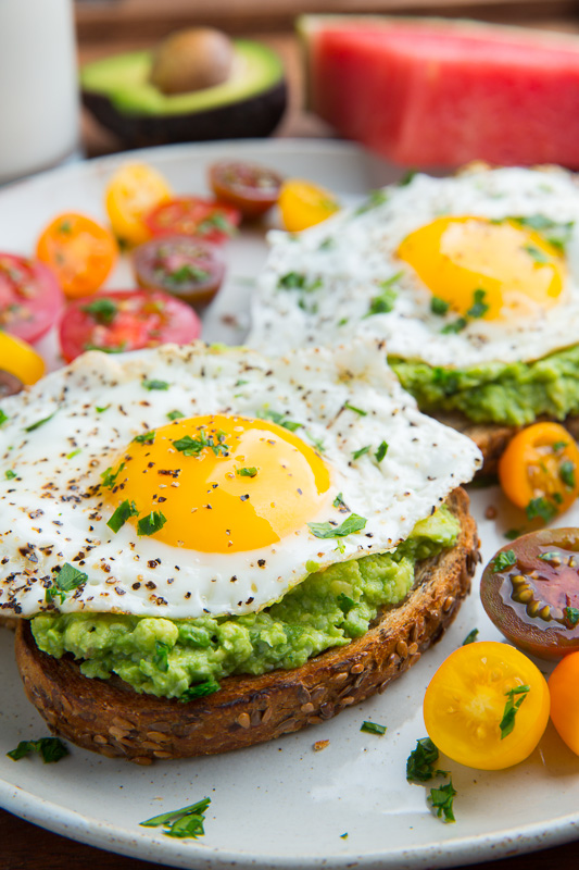 avocado toast with fried egg closet cooking