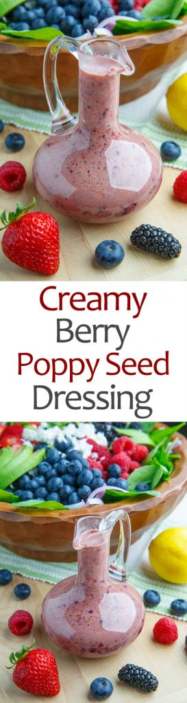 Creamy Berry Poppy Seed Dressing