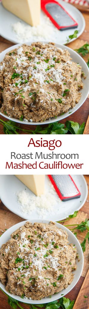 Asiago Roasted Mushroom Mashed Cauliflower