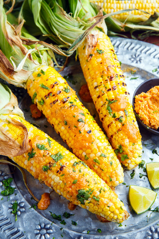 Sriracha Maple Miso Butter Grilled Corn