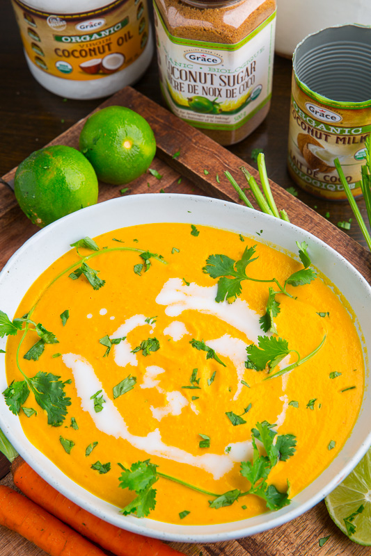 Creamy Curried Coconut Carrot Soup Closet Cooking