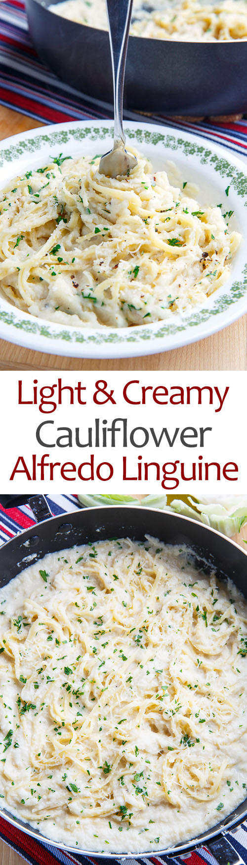 Light and Creamy Cauliflower Alfredo Linguine