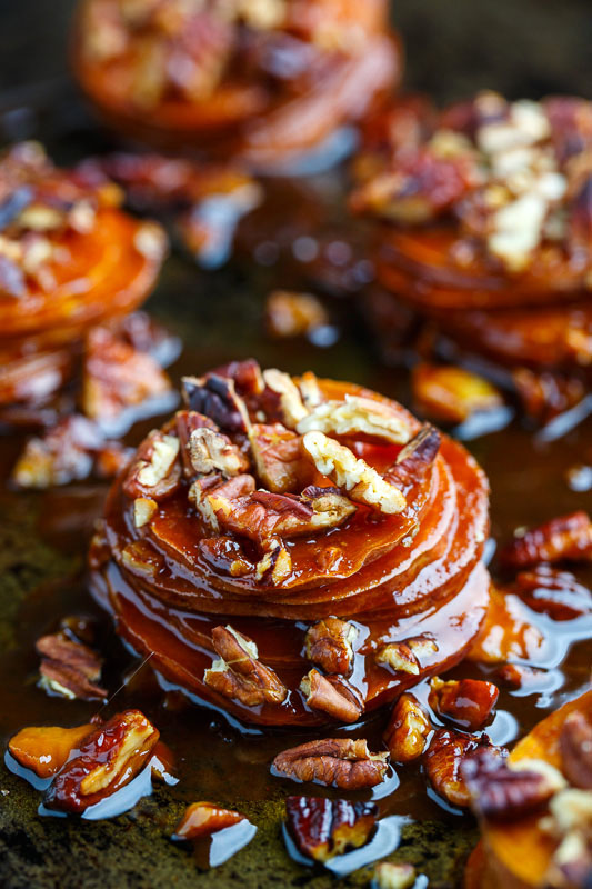 Muffin Pan Maple Pecan Sweet Potato Gratins