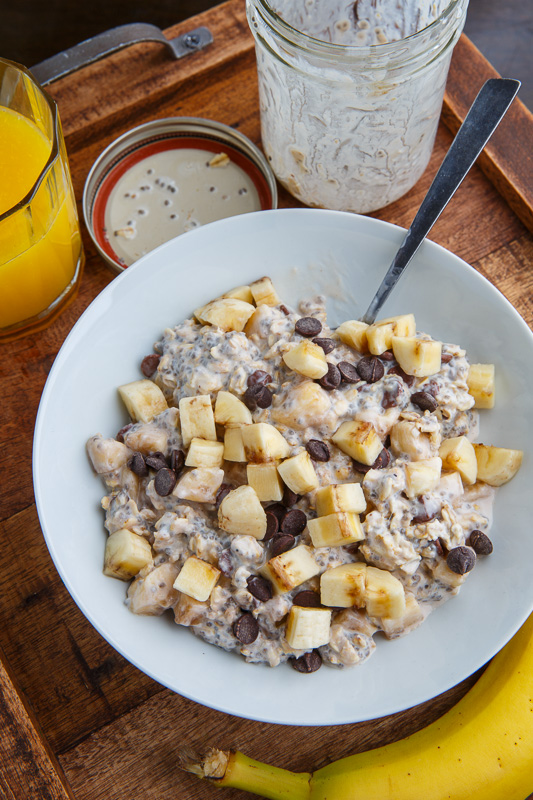Banana and Chocolate Chip Overnight Oatmeal