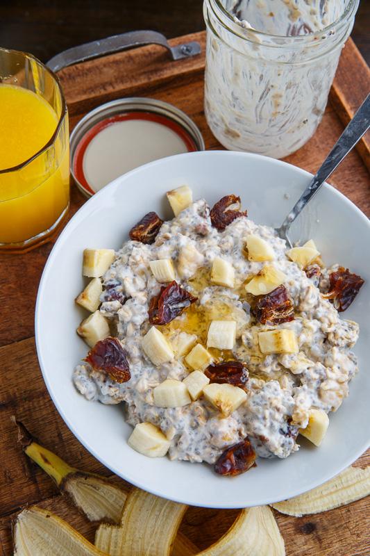 Honey, Banana and Date Overnight Oatmeal