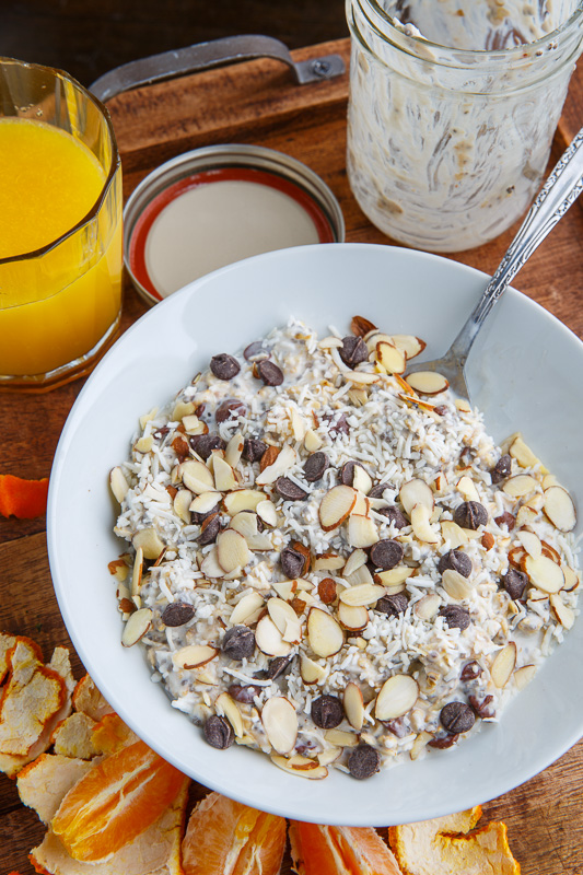 Chocolate, Coconut and Almond Overnight Oatmeal