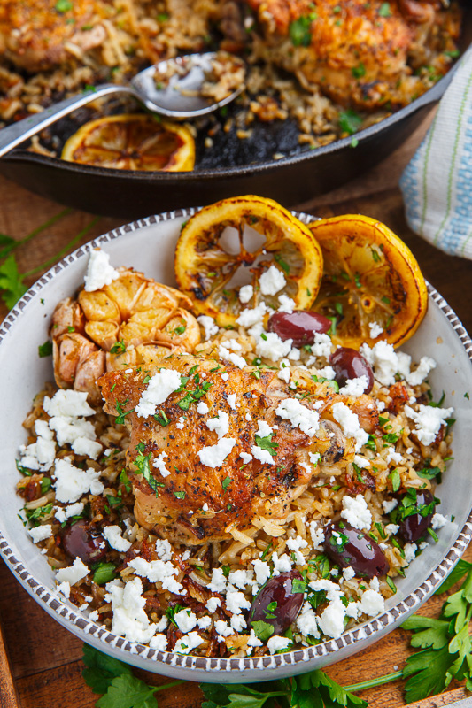 One pan greek lemon chicken rice with roast garlic closet cooking one pan greek lemon chicken rice with roast garlic forumfinder Choice Image