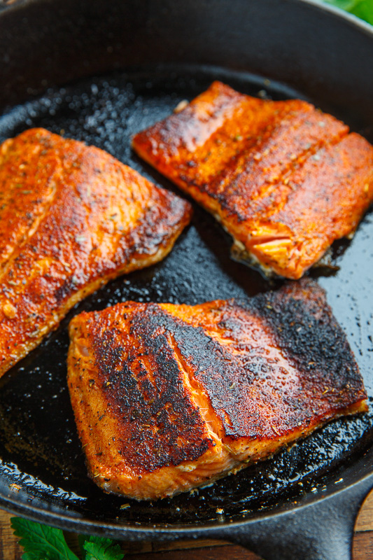 blackened salmon with avocado salsa closet cooking