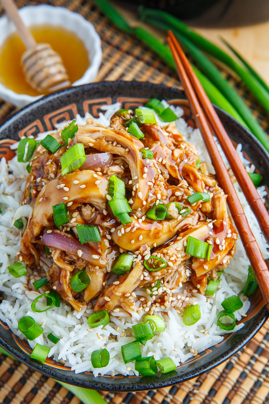 Slow Cooker Honey Garlic Sesame Chicken Closet Cooking