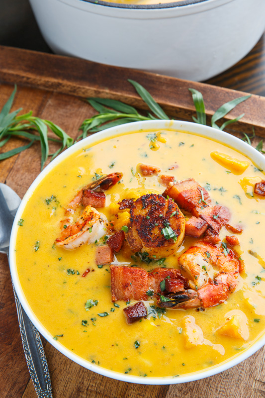 Cajun Sweet Potato Seafood Chowder