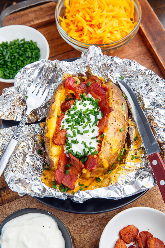 Slow Cooker Loaded Baked Potatoes