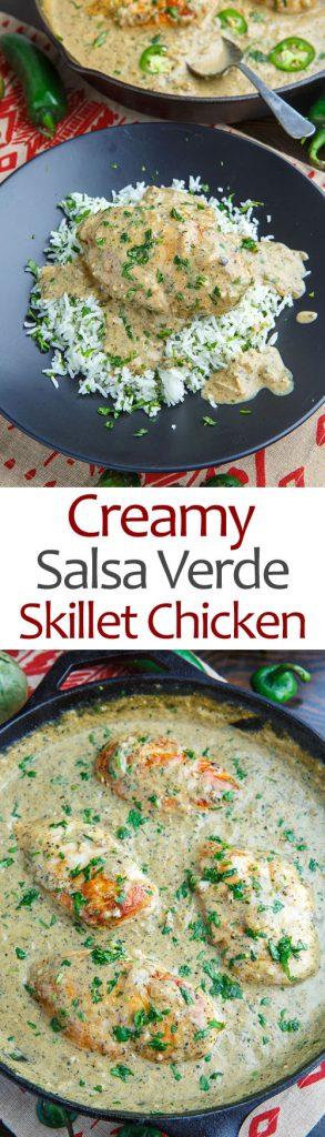 Creamy Salsa Verde Skillet Chicken