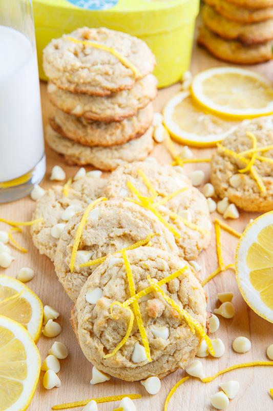 Lemon Curd White Chocolate Chip Cookies