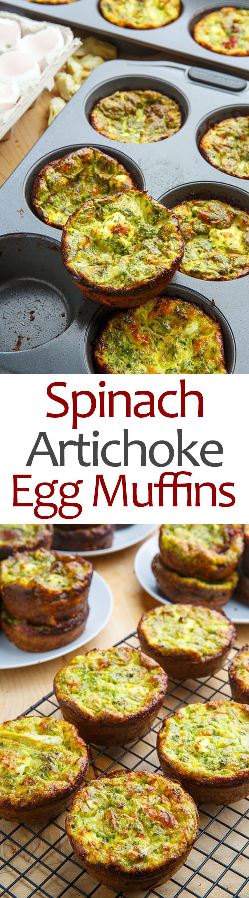 Spinach and Artichoke Egg Muffins