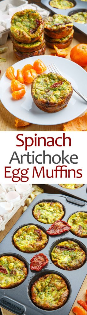 Spinach and Artichoke Egg Muffins with Sundried Tomatoes