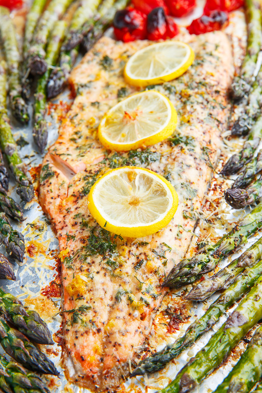 Lemon Pepper Parmesan Roast Trout