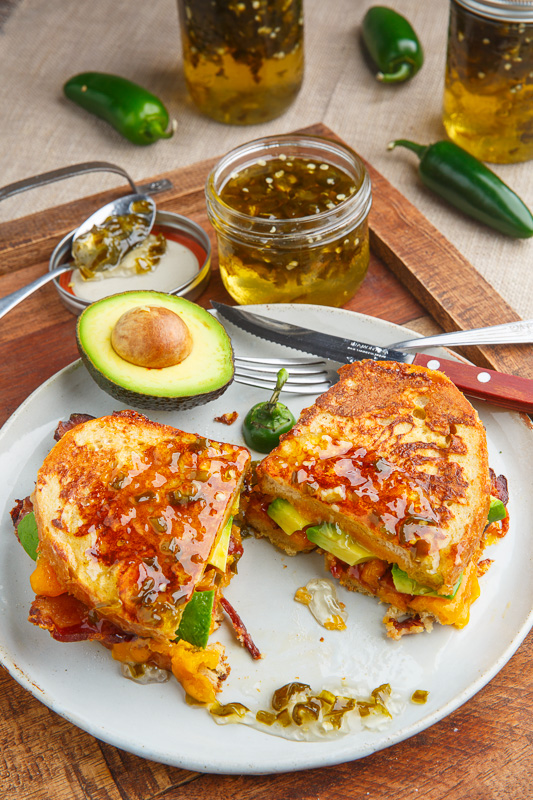 Bacon and Avocado Monte Cristo Sandwich with Jalapeno Jelly