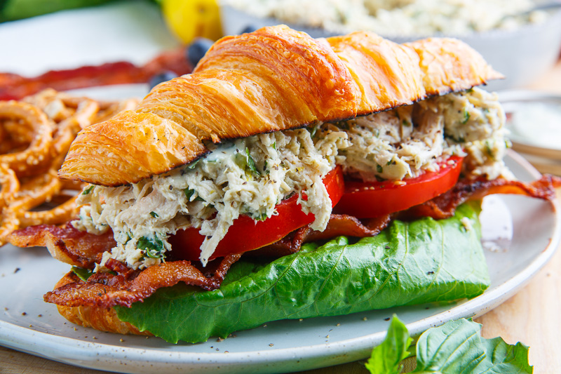 Lemon Basil Chicken Caesar Salad Sandwich