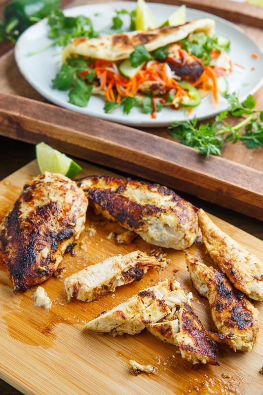Lemongrass Chicken Banh Mi Paratha Tacos