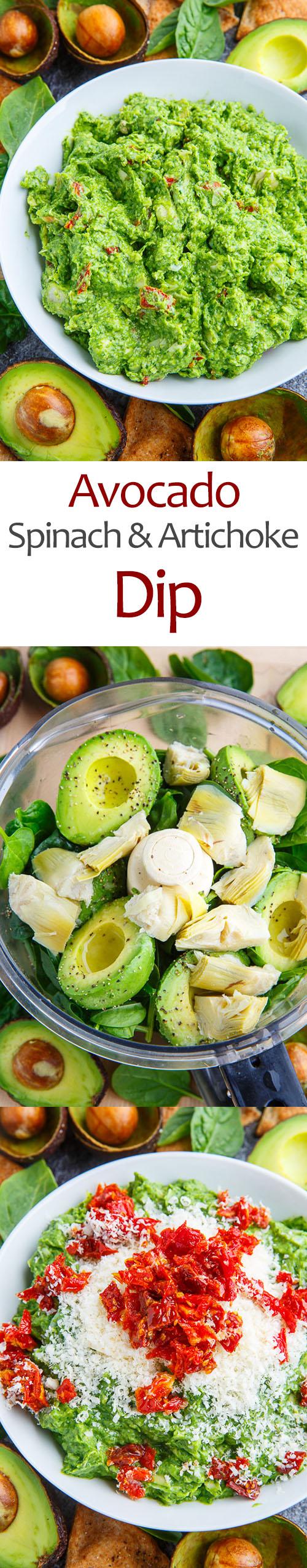 Avocado Spinach and Artichoke Dip