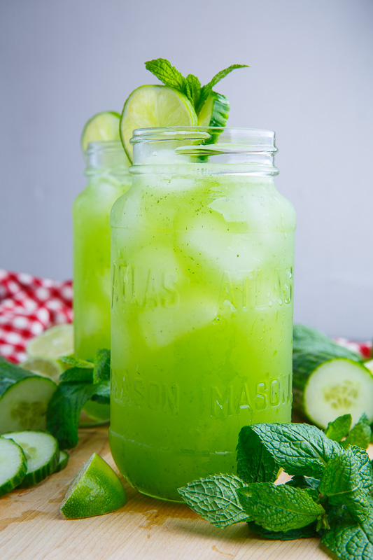 Cucumber, Mint and Lime Refreshers