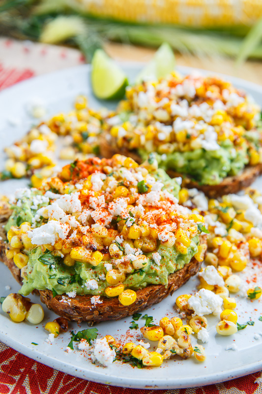 Esquites (Mexican Corn Salad) Avocado Toast