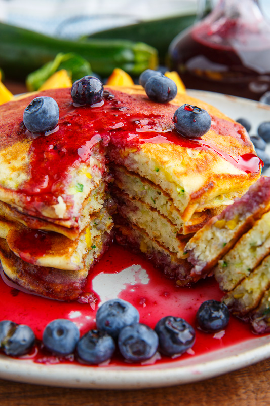 Honey Lemon Zucchini Pancakes