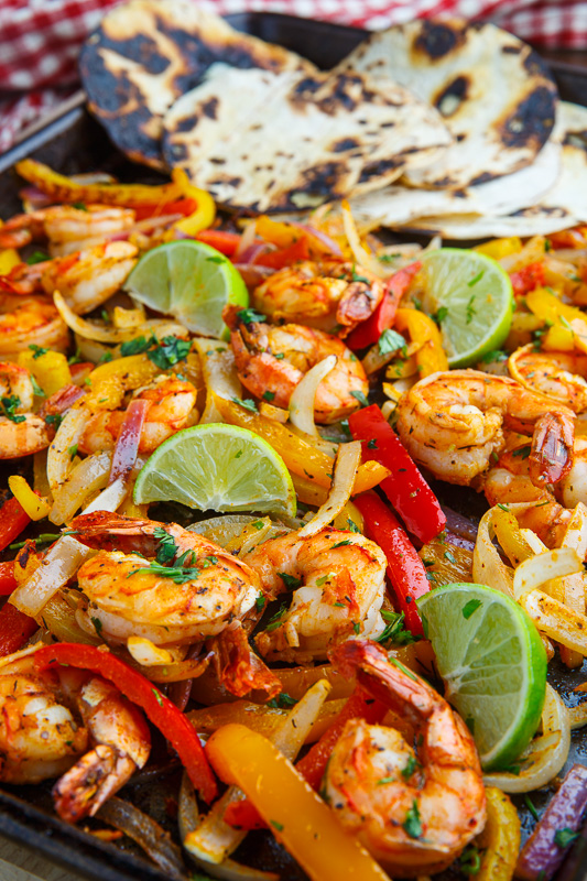 Sheet Pan Shrimp Fajitas