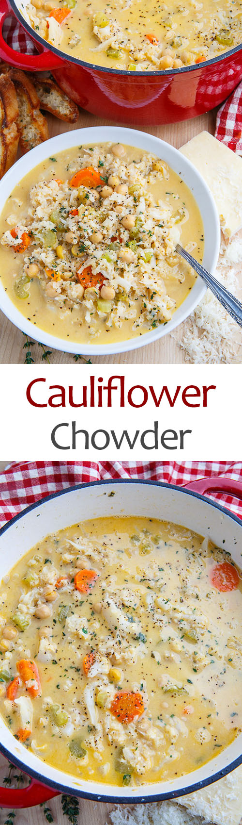 Asiago Cauliflower Chowder