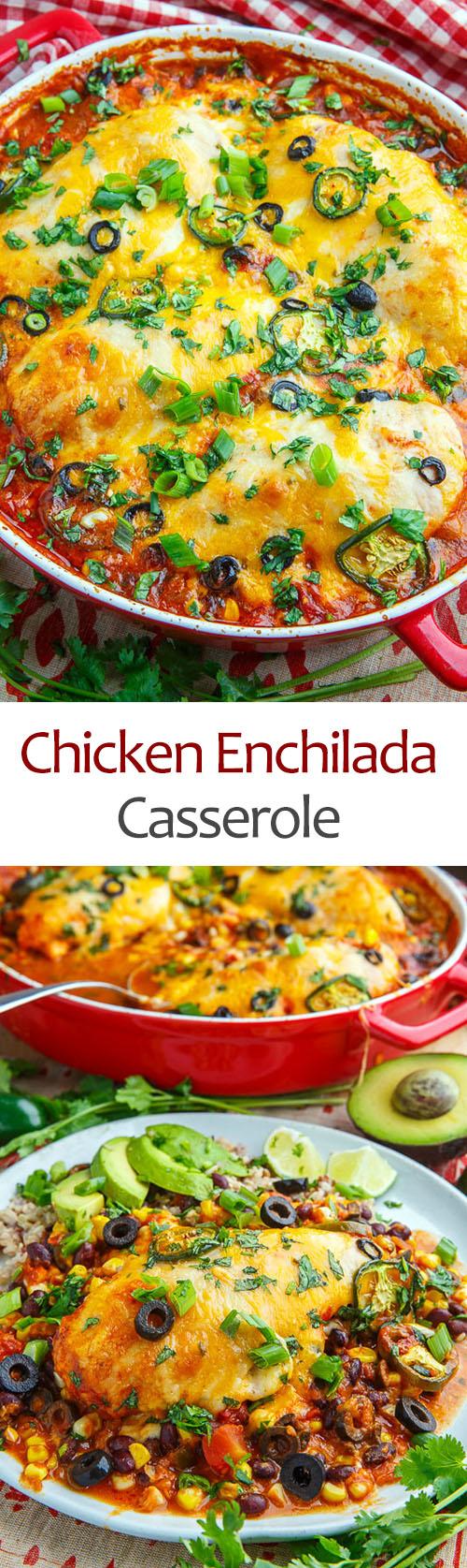 Baked Chicken Enchilada Casserole