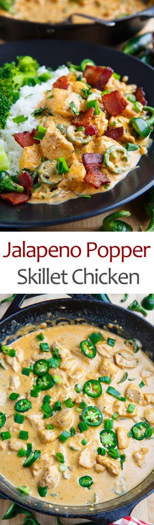 Jalapeno Popper Skillet Chicken