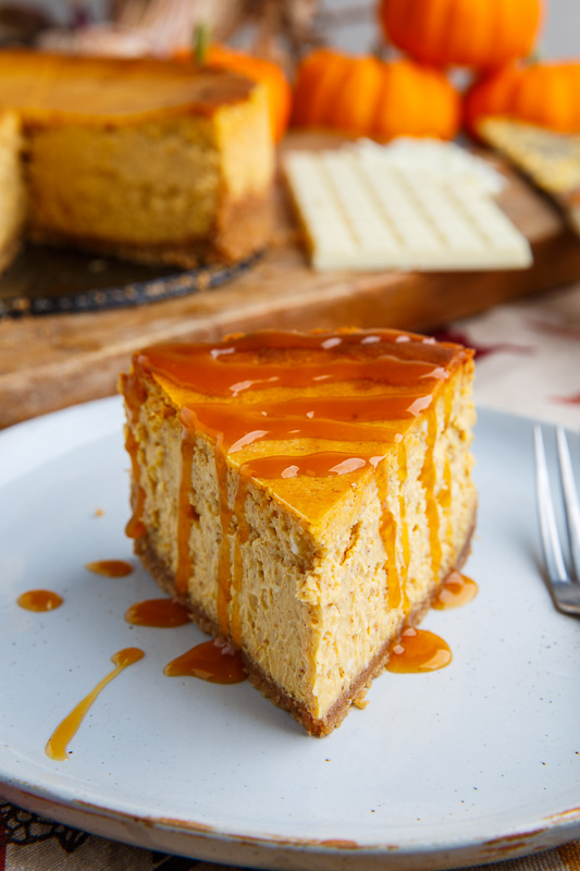 Pumpkin White Chocolate Cheesecake