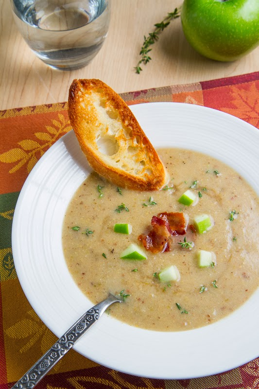 Roasted Apple and Aged White Cheddar Soup