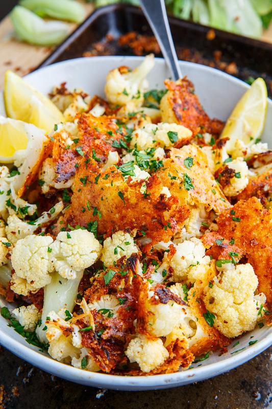 Crispy Parmesan Roast Cauliflower