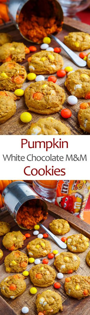 Pumpkin White Chocolate M&M Cookies