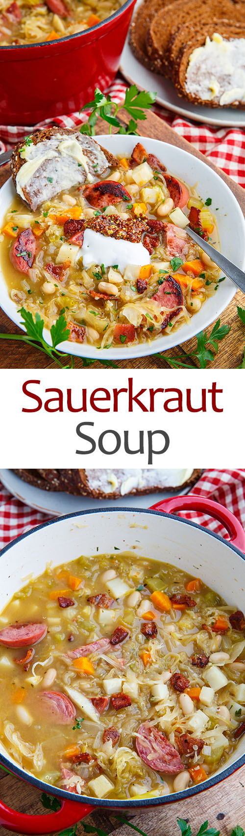 Kielbasa Sauerkraut Soup