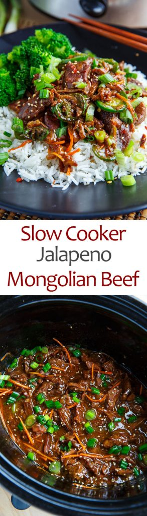 Slow Cooker Jalapeno Mongolian Beef