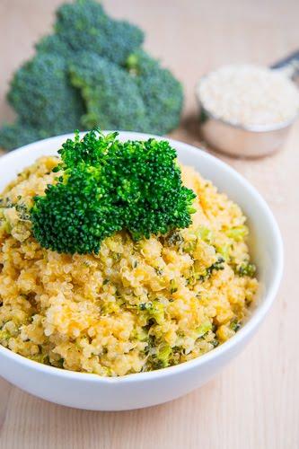 Cheesy Broccoli Quinoa