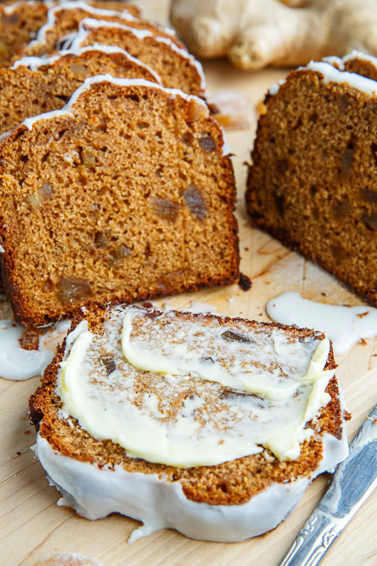 Gingerbread Loaf with Lemon Icing