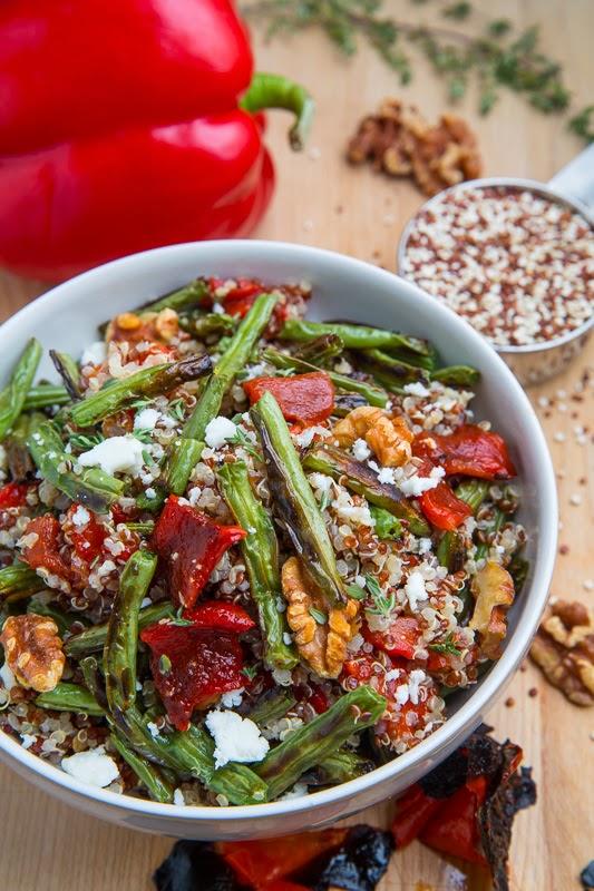 Roasted Green Bean Red Pepper Quinoa Salad