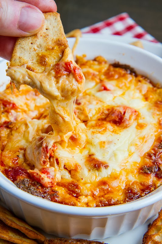 4 Cheese Hot Roasted Red Pepper Dip