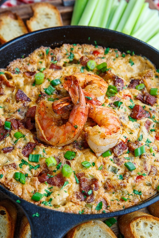 Cajun Shrimp and Andouille Cheese Dip