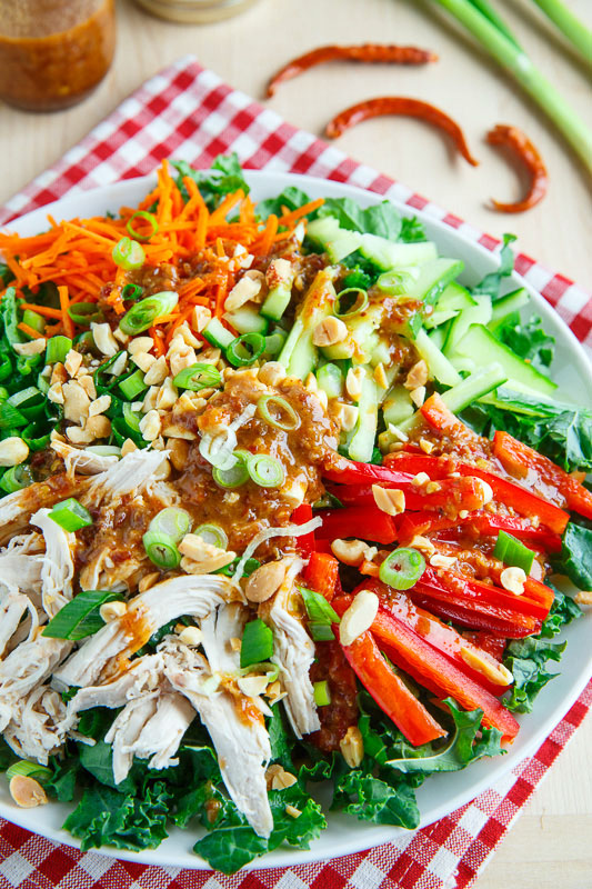 Kung Pao Chicken Salad with Sichuan Dressing