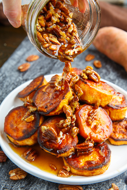 Maple Pecan Melting Sweet Potatoes