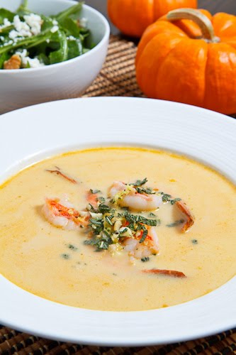Pumpkin and Shrimp Bisque
